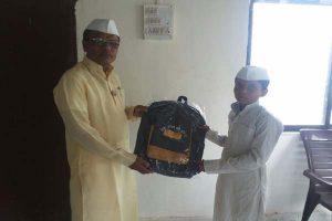 School bag distribute
